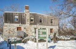 Parque del Visitation de la escena del invierno de Montreal Imágenes de archivo libres de regalías