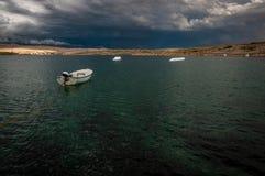 Parque del wakeboard del cable antes de la tormenta Imágenes de archivo libres de regalías