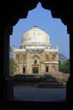 Parque Deli do lodhi do mausoléu quadro na entrada Fotografia de Stock Royalty Free
