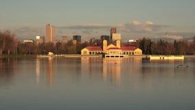 Parque Denver Colorado Ferril Lake Wildlfie do centro da cidade vídeos de arquivo