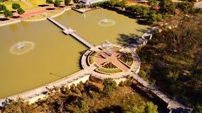 Parque desde arriba Foto de archivo