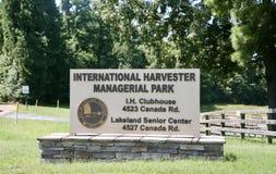 Parque directivo de la máquina segador internacional, Lakeland, TN fotografía de archivo libre de regalías