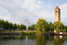 Parque do beira-rio de Spokane Washinton Imagens de Stock