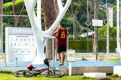 Parque do bem-estar de MyEquilibria por Samsung fotografia de stock