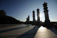 Parque do Buddhism, zona cultural nashan do turismo de Sanya imagens de stock royalty free