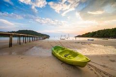 Parque do caiaque na praia Fotos de Stock