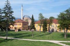Parque do castelo de Skopje, Macedônia Fotografia de Stock