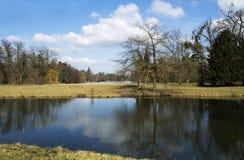 Parque do castelo em Ledncie Imagem de Stock Royalty Free