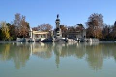 Parque do EL Retiro no Madri, Espanha Imagens de Stock Royalty Free