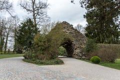 Parque do Eremitage, palácio velho em Bayreuth, Alemanha, 2015 Imagens de Stock