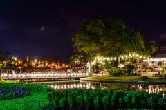 Parque do festival em público foto de stock