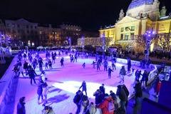 Parque do gelo em Zagreb Imagem de Stock Royalty Free