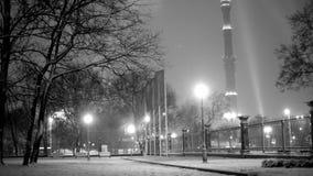 Parque do inverno em Ostankino video estoque