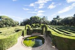 Parque do labirinto de Horta, Barcelona, Espanha Fotografia de Stock