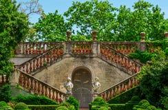 Parque do labirinto de Horta em Barcelona, Catalonia, Espanha Foto de Stock Royalty Free