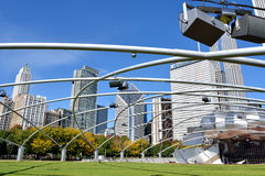 Parque do milênio, pavilhão de Pritzker em Chicago Fotos de Stock