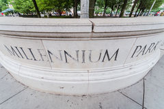 Parque do milênio em Chicago, Illinois Imagens de Stock