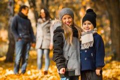 Parque do outono da caminhada fotografia de stock