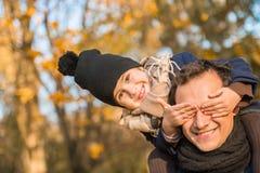 Parque do outono da caminhada imagens de stock royalty free