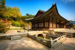 Parque do palácio de Changgyeonggung, Seoul, Coreia do Sul. imagens de stock