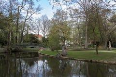 Parque do palácio novo em Bayreuth, Alemanha, 2015 Imagens de Stock Royalty Free