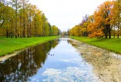 Parque do ` s de Catherine em Tsarskoe Selo Fotos de Stock Royalty Free