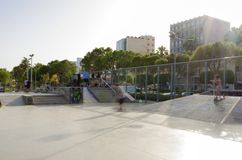 Parque do skate, Molos, Limassol, Chipre Foto de Stock