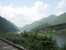 Parque do trilho com vista natural Foto de Stock