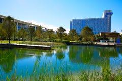 Parque do verde de Houston Discovery dentro na cidade fotos de stock royalty free