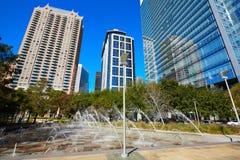 Parque do verde de Houston Discovery dentro na cidade imagens de stock royalty free