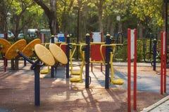 parque dos equipamentos de esporte exterior em público fotografia de stock royalty free