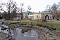 Parque dos termas do recurso de saúde Frantiskovy Lazne em República Checa fotografia de stock royalty free