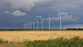 Parque eólico cerca de Thisted, Dinamarca Fotografía de archivo libre de regalías