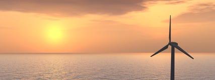 Parque eólico costa afuera Imagen de archivo libre de regalías