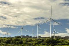 Parque eólico de Kahuku fotografía de archivo