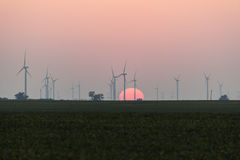 Parque eólico en Illinois Imágenes de archivo libres de regalías