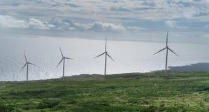 Parque eólico en Maui Hawaii Fotos de archivo