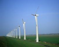 Parque eólico holandés Fotografía de archivo libre de regalías