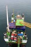 Parque eólico a poca distancia de la costa Imagen de archivo libre de regalías
