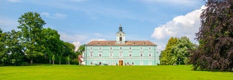 Parque e castelo do renascimento em Dacice, República Checa Imagem de Stock Royalty Free
