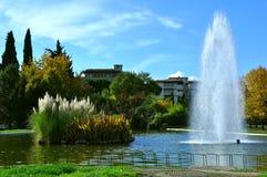 Parque e fonte Imagem de Stock Royalty Free