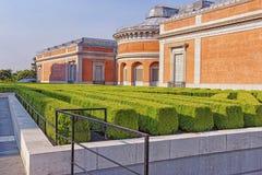 Parque e museu verdes pequenos de Prado no Madri Foto de Stock Royalty Free