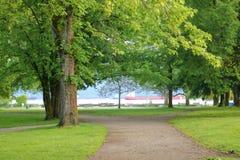 Parque e Oceanfront imagens de stock