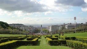 Parque Eduard VII w Lisbon zbiory wideo