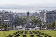 Parque Eduardo VII πάρκο Λισσαβώνα Πορτογαλία Στοκ Εικόνες