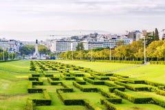 Parque Eduardo VII в Лиссабоне, Португалии Стоковое Фото