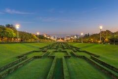 Parque Eduardo VII i Lissabon Arkivfoto