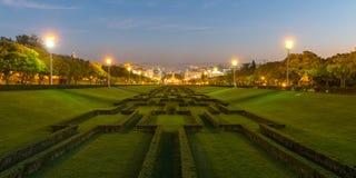 Parque Eduardo VII in Lisbon Royalty Free Stock Photo