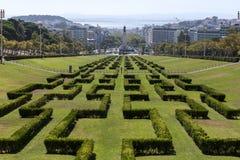 Parque Eduardo VII parkerar Lissabon Portugal Royaltyfri Bild