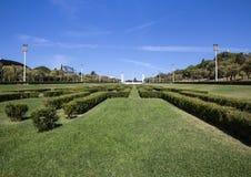Parque Eduardo VII parkerar Lissabon Portugal Royaltyfria Bilder